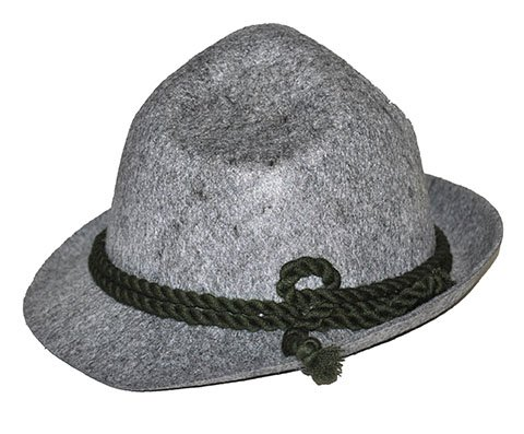 [Alpine Hat Bavarian German Oktoberfest Costume Accessory Men'S Gray Felt] (Oktoberfest Costumes Hat)