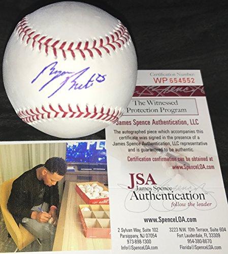 (Byron Buxton Minnesota Twins Autographed Signed Official Major League Baseball JSA WITNESS COA)