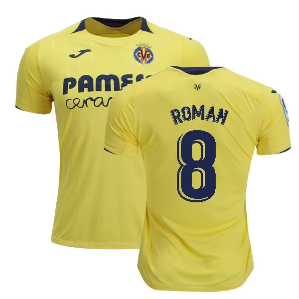 7c7aaf2e5c2 Amazon.com   2018-2019 Villarreal Joma Home Football Soccer T-Shirt Jersey  (Juan Roman Riquelme 8)   Sports   Outdoors