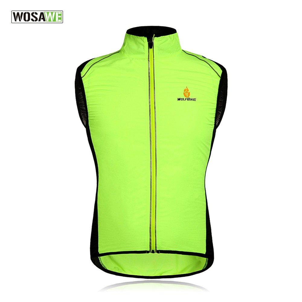 WOLFBIKEサイクリングジャケットジャージーベスト風コートウィンドブレーカージャケットアウトドアスポーツウェア   B01J4841ZS