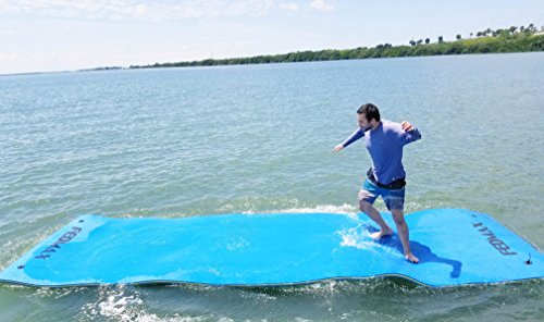Fedmax Floating Water Mat for Lake or Salt Water, 18' x 6' Giant Pad, Choose Color, Large Boat Side Foam Raft for Adults and Kids. (Blue) price tips cheap