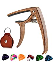 Guitar Capo, 2in1 Zinc Alloy Capo, for Acoustic and Electric Guitars (with Pick Holder and 6 Picks) Classical Guitar, Bass, Ukulele, Banjo, Mandolin