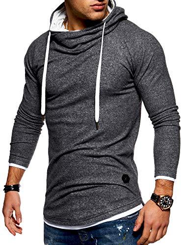 Behype Men's Sweater Jumper Hoodie Sweatshirt Pullover Longsleeve Tops MT-7431 (Darkgrey,M)
