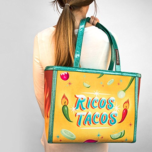 Tote Chocolate Da Design Donna Hot Tacos Sacchetto EOwZqq