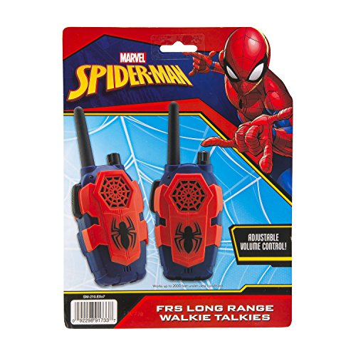 Marvel Spiderman Homecoming FRS Walkie Talkies Kid Friendly Static Free