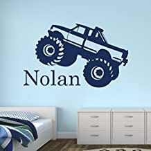 Custom Monster Truck Name Wall Decal for Boys - Trucks Wall Decals - Nursery Wall Decals - Trucks Decal - Baby Nursery Decor (30Wx20H) by Lovely Decals World