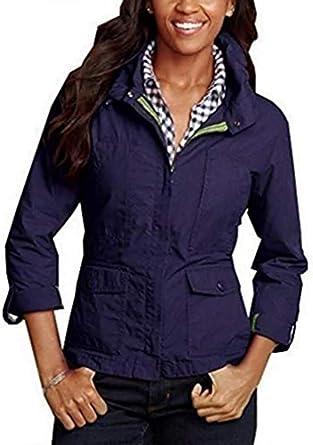 Chaqueta Ripstop chaqueta Mujer de Eddie Bauer - algodón, ciruela, 33% poliamida. 33% poliamida 67% algodón, mujer, M / 38/40: Amazon.es: Ropa y accesorios