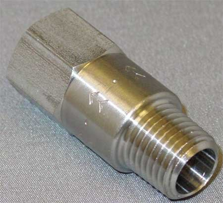 Piston Check Valve (SMC CHK SST 410-4M4F-B Piston Spring Check Valve, 1/4)