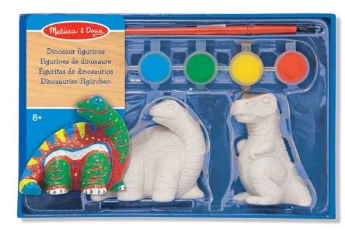 Melissa & Doug Decorate-Your-Own Dinosaur Figurines Craft Kit - 2 Solid-Resin Dinosaurs