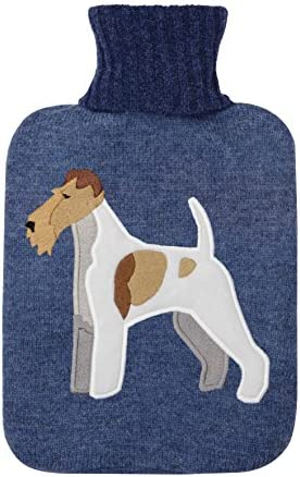 Aroma Home Knitted Fox Terrier Hot Water Bottle by Aroma Home
