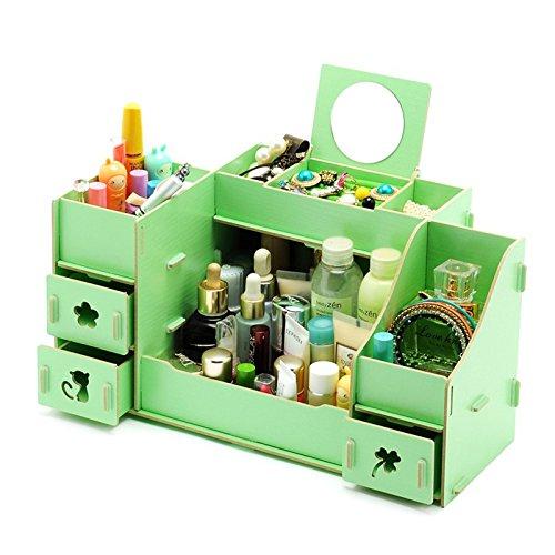 elegantstunning DIY Beauty Wood Removable Makeup Cosmetics Organizer Storage,Mixed Color