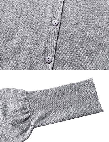 Jersey de Chaqueta botones Jersey cl punto punto mujer con larga de para Bolero Jersey Chaleco elegante de manga HCCd1r