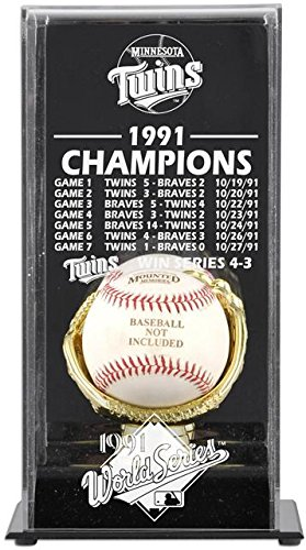 Mounted Memories Minnesota Twins 1991 World Series Champs Display Case ()