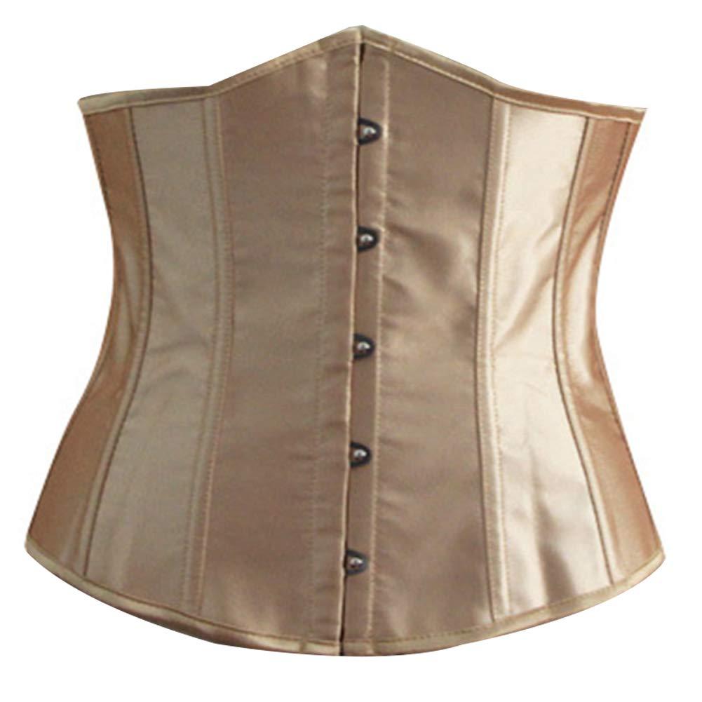 HshDUti Plus Size Women Solid Color Underbust Corset Waist Training/Slim Body Shaper