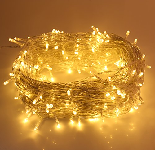 [Alanda Outdoor String Lights 328ft/100m Copper Wire Warm White 500 LED Dimmable LED String Lights Outdoor Lights Ambiance Lighting for Home, Patio, Party, Festival, Christmas Tree, Decorations] (Garland Led Lights)