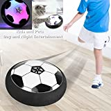 ANRAY Hover Soccer Ball Colorful LED Lights a Soft & Safe Foam Bumper,Disk Football Kids Toy Indoor Outdoor use,Best Gift Boys Girls