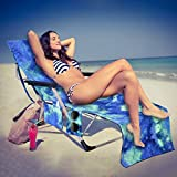 Beach Chair Cover, Chaise Lounge Towel Cover with