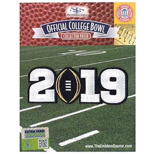 2019 College National Championship Game Jersey Patch Black Alabama -