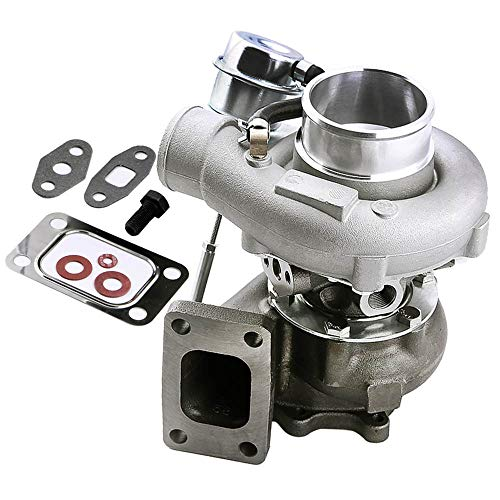 maXpeedingrods Universal Turbo Turbocharger for Nissan Skyline R32 R33 R34 RB25 RB20 2.0L-2.5L 6 bolt Flanage Turbo Charger 0.63A/R, Water + Oil Cooled, Max 21.75PSI