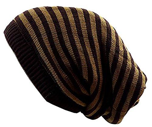 Muchos Invierno gorros de Reversible de gorros de bufanda de de Invierno de bufandas de redondo bufanda de Long de gorro de muetzen Invierno Edition Skul lred marrón