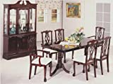 Wooden Dining Table with Leaf in Dark Cherry Finish ADS1001