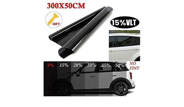 lymty Window Tint Film Pel/ícula de Tintado autom/óviles deslumbramiento y privacidad Pel/ícula para Ventanas Furgonetas y veh/ículos de 3 MX 50 cm