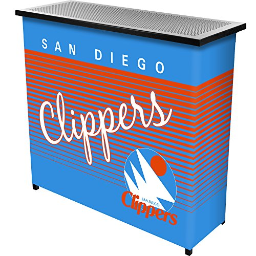 Trademark Global NBA San Diego Clippers Portable Bar with Case, One Size, Black by Trademark Global