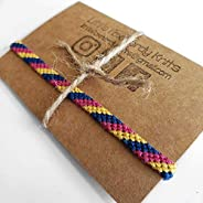 Pansexual Pride Hand Woven Anklet or Bracelet