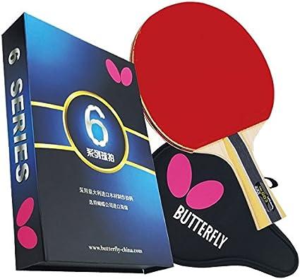 Amazon.com: Butterfly 603 Shakehand, raqueta de ping pong ...
