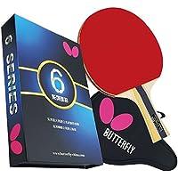 Butterfly 603 - Juego de paleta de ping pong, 1 raqueta de tenis de mesa, 1 funda para paleta de ping pong, gran adición a tu mesa de ping pong, juego de paletas de ping-pong de mariposas de torneo y ping-pong, alta velocidad y giro