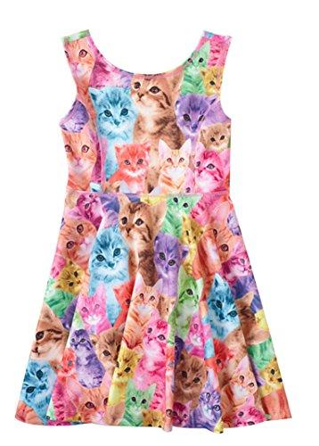 Multi-Color Kitty Dress