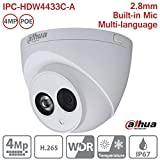 Cheap Dahua IP Camera IPC-HDW4433C-A 2.8mm 4MP Full HD IR Mini Turret Dome Network Camera ONVIF PoE Built-in Mic IP67 International Version