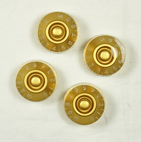 Speed Guitar Control Knobs Set of 4 Gold - 7