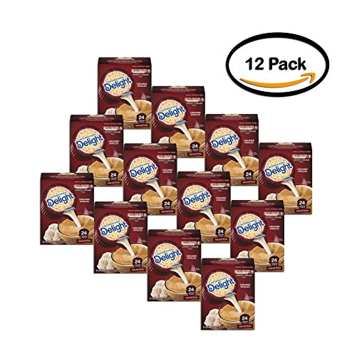 PACK OF 12 - International Delight Caramel Macchiato Coffee Creamer Singles 84 Ct by International Delight