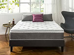 Zinus 12 Inch Performance Plus / Extra Firm Spring Mattress, Queen