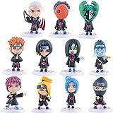 11Pcs/Set 8cm Naruto Akatsuki Uchiha Itachi Madara Sasuke Hidan Orochimaru Tobi Pein Deidara Dolls Action Figures Anime Toys
