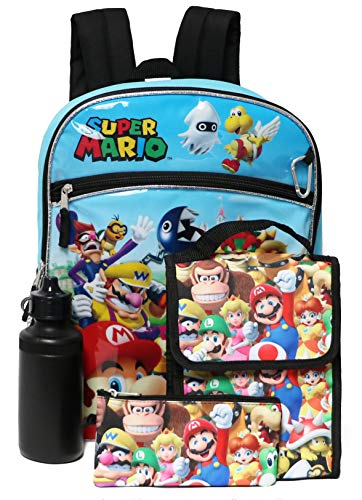 [해외]Super Mario Brothers Backpack 5-Piece School Supplies (Mario Multi) / Super Mario Brothers Backpack 5-Piece School Supplies (Mario Multi)