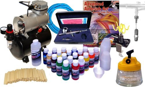 - IWATA HP-C PLUS AIRBRUSH w/COMPRESSOR KIT Createx Paint