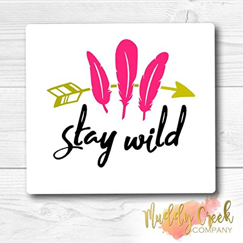 Stay Wild Feathers & Arrow Gypsy/Boho Style Vinyl Decal Sticker || Your Initials || Car Window Decal || Laptop Sticker || Wall Art || Cell Phone Decal || Yeti Tumbler Decal ||