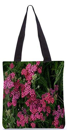 """Snoogg Roten Und Grünen Blumen-Einkaufstasche 13,5 X 15 In """"Einkaufstasche Dienstprogramm Trage Aus Polyester Leinwand"""