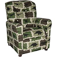 Brazil Furniture 4 Button Back Child Recliner - Camo Rex