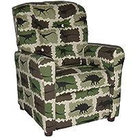 Brazil Furniture 4 Button Back Child Recliner - Camo Rex