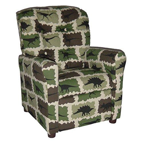 Brazil Furniture 4 Button Back Child Recliner - Camo Rex by Brazil Furniture