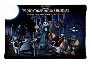 Nightmare Before Christmas Unique Custom Diy Rectangle Pillow Case 20X30 inches (One Side) New