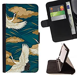 - Teal Swan Painting White Golden - Estilo PU billetera de cuero del soporte del tir???¡¯????n [solapa de cierre] Cubierta- For Samsung Galaxy S4 Mini i9190 £¨ Devil Case £©