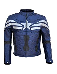 Men's Captain Winter Soldier Real Leather America Jacket