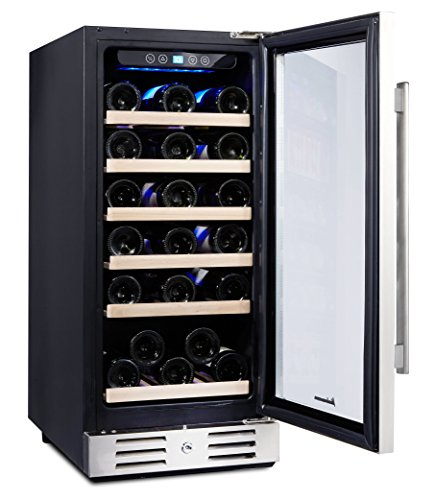 Kalamera 15'' Wine Cooler 30 Bottle Built-in or Freestanding with Stainless Steel & Double-Layer Tempered Glass Door and Temperature Memory Function by Kalamera (Image #2)