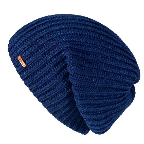 - LETHMIK Winter Beanie Skull Cap Warm Knit Fleece Ski Slouchy Hat for Men & Women Plain Navy