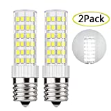 DiCUNO E17 LED Bulb Appliance Bulbs Microwave Oven Light 5 Watt Daylight White 6000K, 550lm, 50W Equivalent Halogen Replacement, 2-Pack
