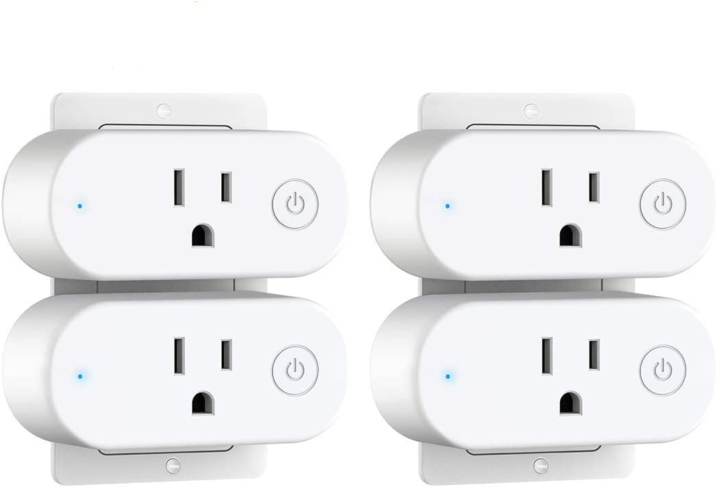 Overload Protection FCC Listed Aoycocr 15A Wifi Outlet Work with Alexa Google Home IFTTT-4 Pack Mini Socket with Schedule and Timer Function No Hub Required Smart Plug with Energy Monitoring